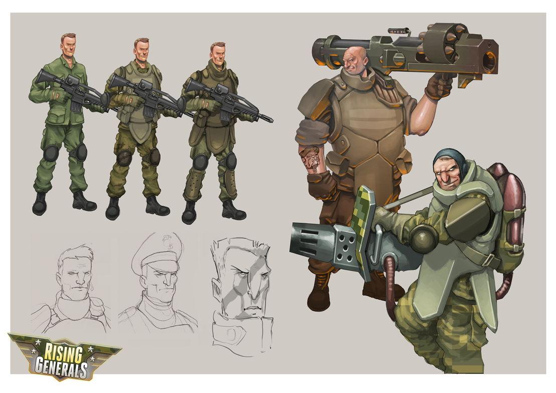 Character Design Rising Generals