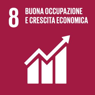 Goal #8: Incentivare una crescita economica duratura, inclusiva e sostenibile, un'occupazione piena e produttiva ed un lavoro dignitoso per tutti