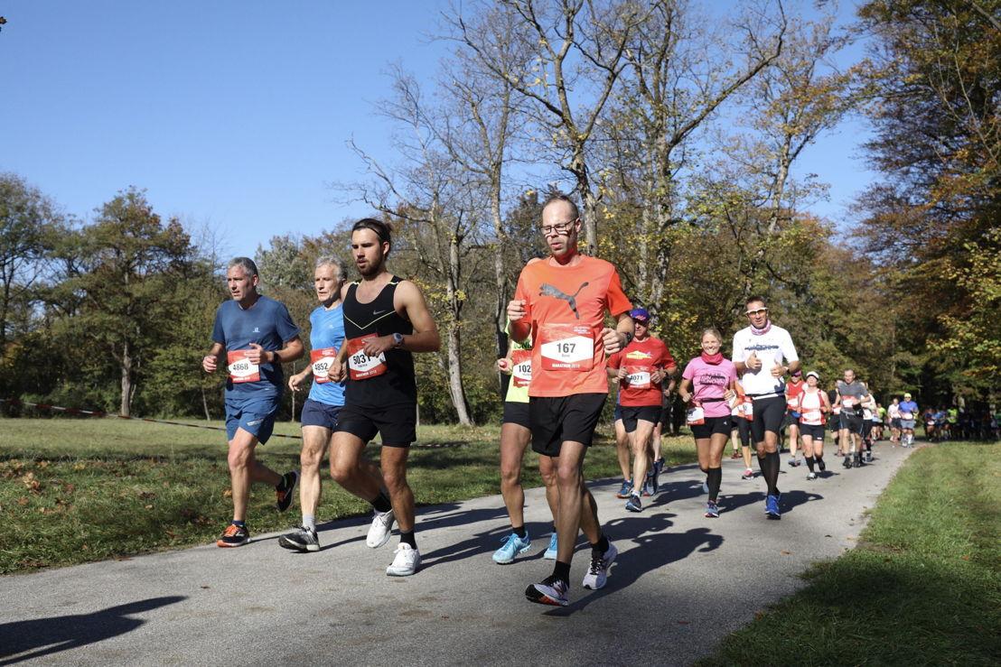 Ein großer Teil der Marathon-Strecke verlief durch den Münchner Englischen Garten