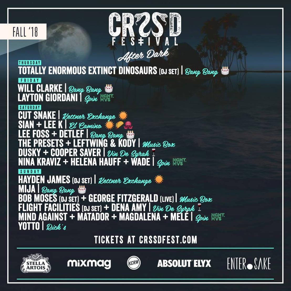 CRSSD Festival Announces By Day & After Dark Programming for Fall 2018