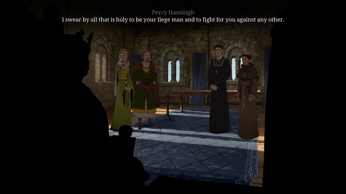 Regan & Percey Hamleigh, Waleran and Philip are visiting the King
