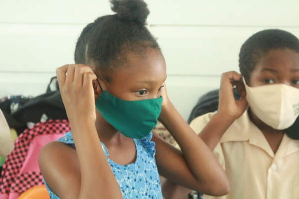 Preview: OECS Commission donates school supplies, masks and face shields to Des Barras Combined School