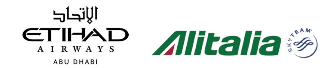 Etihad Airways en Alitalia breiden codeshare-overeenkomst uit
