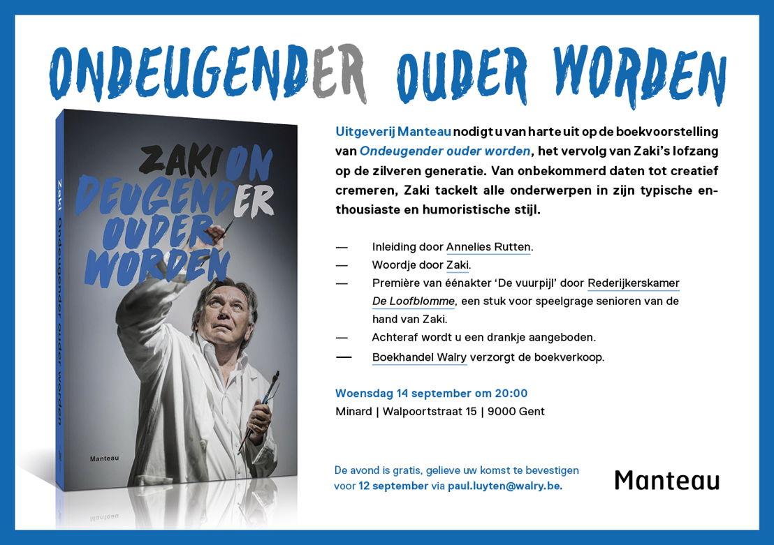 Uitnodiging boekvoorstelling 'Ondeugender ouder worden'