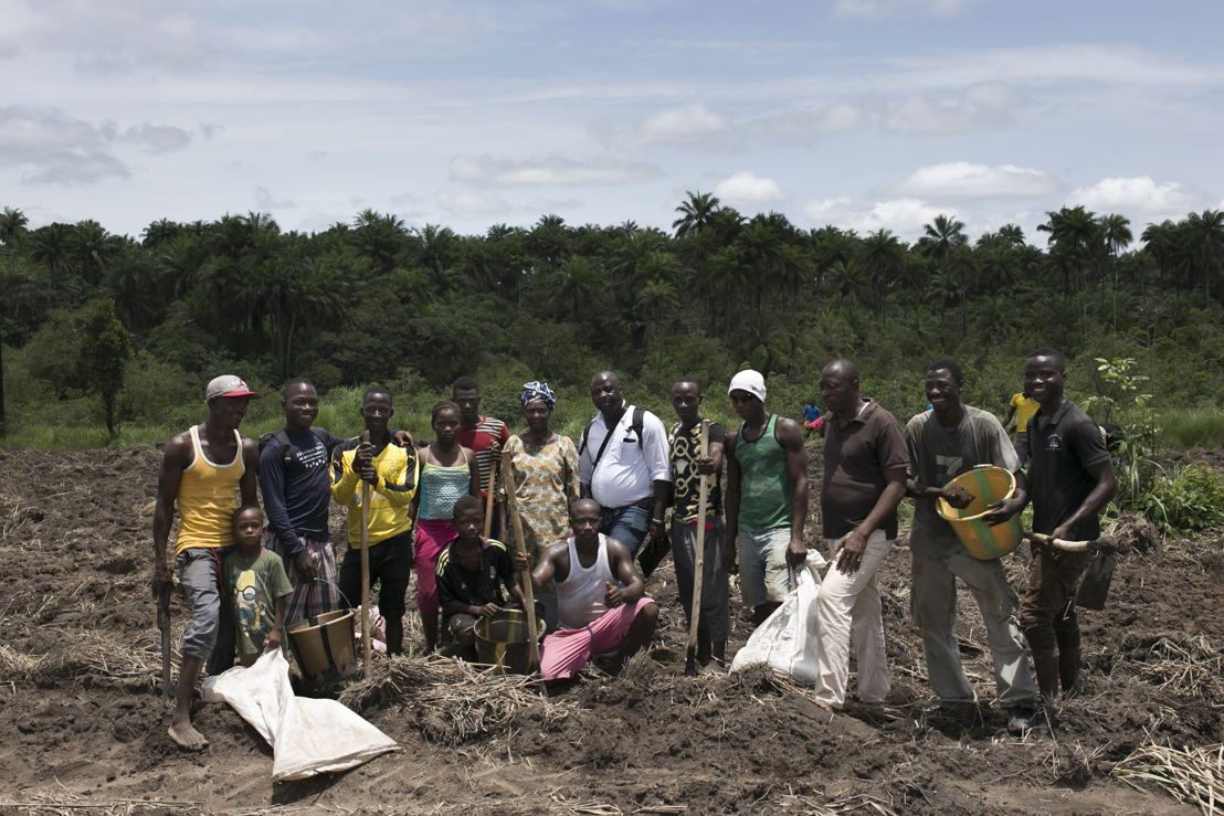 Portrait of members of the APGEF - Association des Personnes Guerís d&#039;Ebola de Forecariah (Ebola survivors association of Forecariah).<br/><br/>These Ebola survivors associations are very important to fight against the stigmatisation of survivors and to conduct anti stigma activities with the population. Forecariah area is a mainly rural area were most of the population living from agriculture. Photographer: Albert Masias