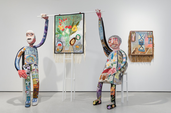 Preview: Klaas Rommelaere presents his larger-than-life embroidered puppets in Texture in Kortrijk