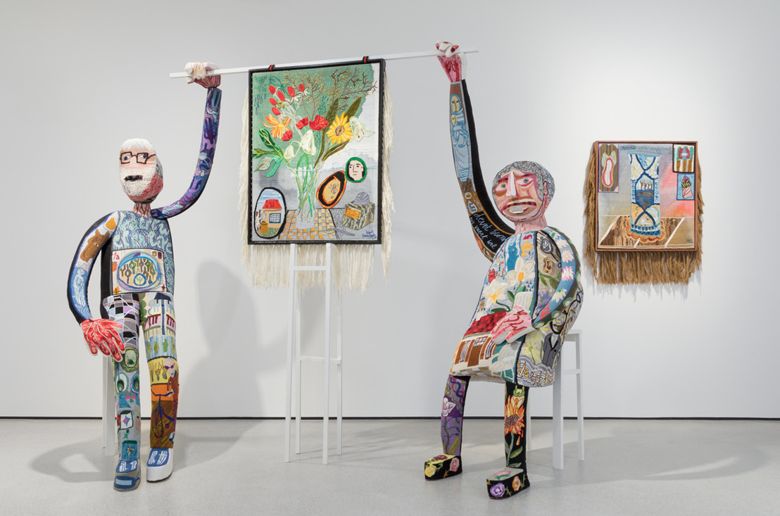 Klaas Rommelaere presents his larger-than-life embroidered puppets in Texture in Kortrijk
