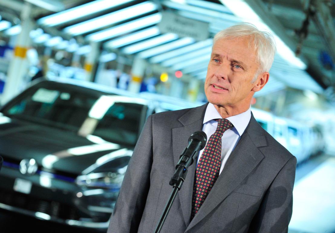 Matthias Müller stelt zijn volgende stappen voor de Volkswagen-groep voor