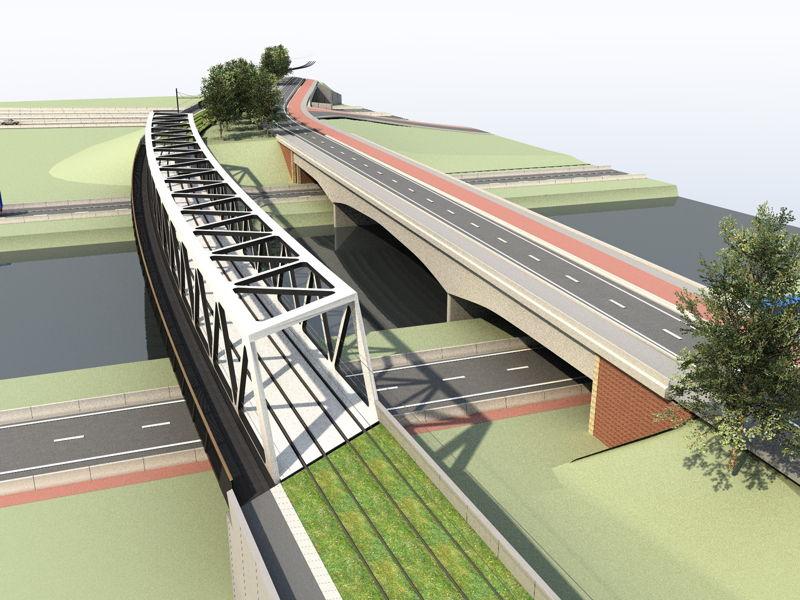 Toekomstbeeld trambrug R4-Ringvaart
