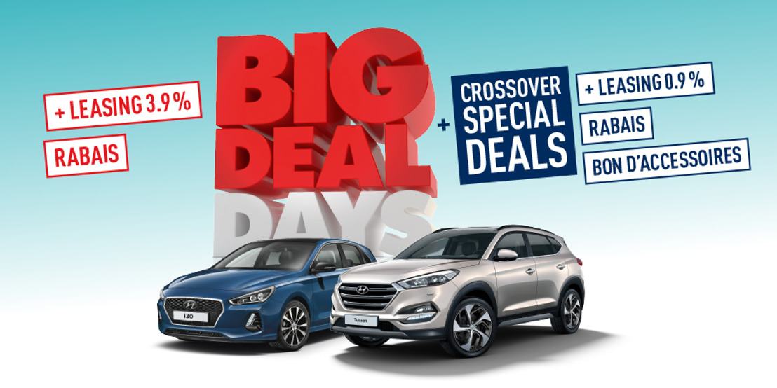 Le temps presse: BIG DEAL, y compris CROSSOVER SPECIAL DEALS chez Hyundai