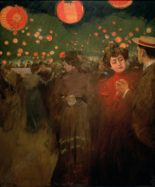 &#039;The Open-air dance&#039;, oil by Ramon Casas 1901-1902<br/>AKG5828987