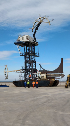 Cable from the largest wind farm lands in Zeebrugge