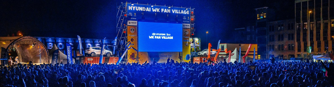 Voetbalfans zijn welkom om onze nationale ploeg aan te moedigen in één van de twaalf EK Fanparks