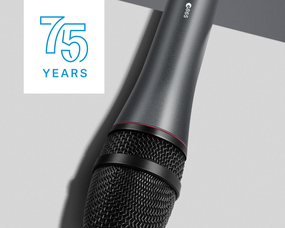 The super-cardioid e 865 condenser microphone is an ideal choice for speech and vocals