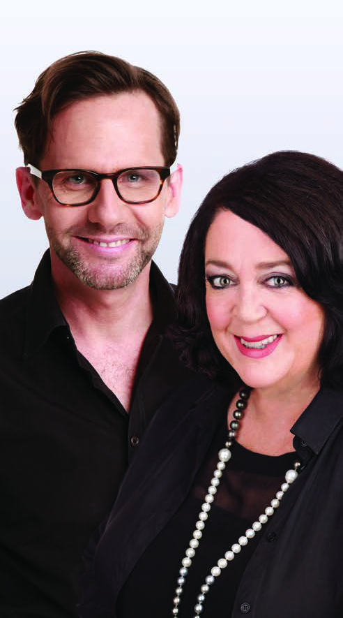 Robbie Buck and Wendy Harmer