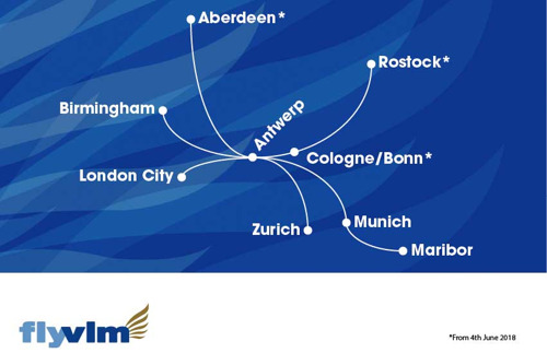 VLM announces three new destinations: Aberdeen, Cologne-Bonn Airport and Rostock