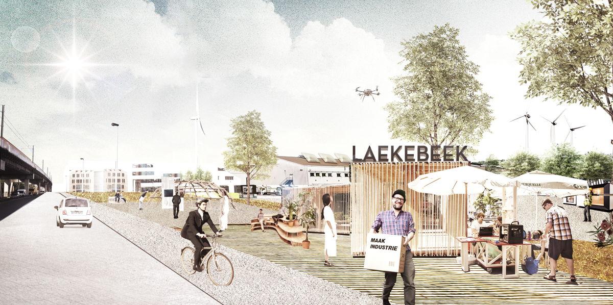 Toekomstbeeld bedrijvenzone Laekebeek