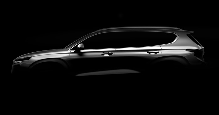 Hyundai Motor releases first teaser image of the fourth generation Santa Fe