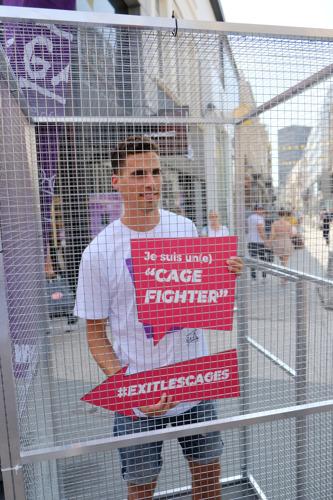 L'ambassadeur de GAIA Kevin Borlée s'enferme dans une cage