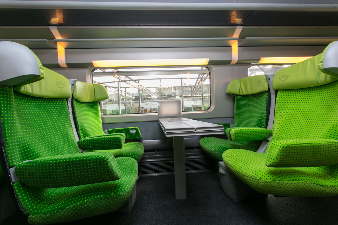 Interieur IZY-trein