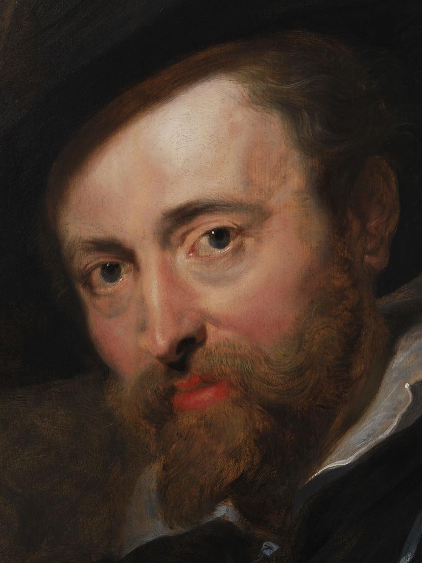 13_Peter Paul Rubens, Zelfportret, Rubenshuis Antwerpen, detail van zijn gezicht, opname 12 april 2018 na restauratie KIK-IRPA, foto KIK-IRPA Brussel