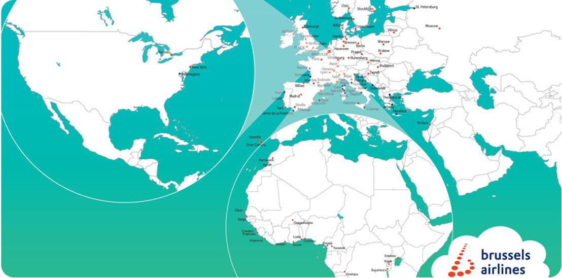 Brussels Airlines luidt zomerseizoen in met 9 nieuwe bestemmingen