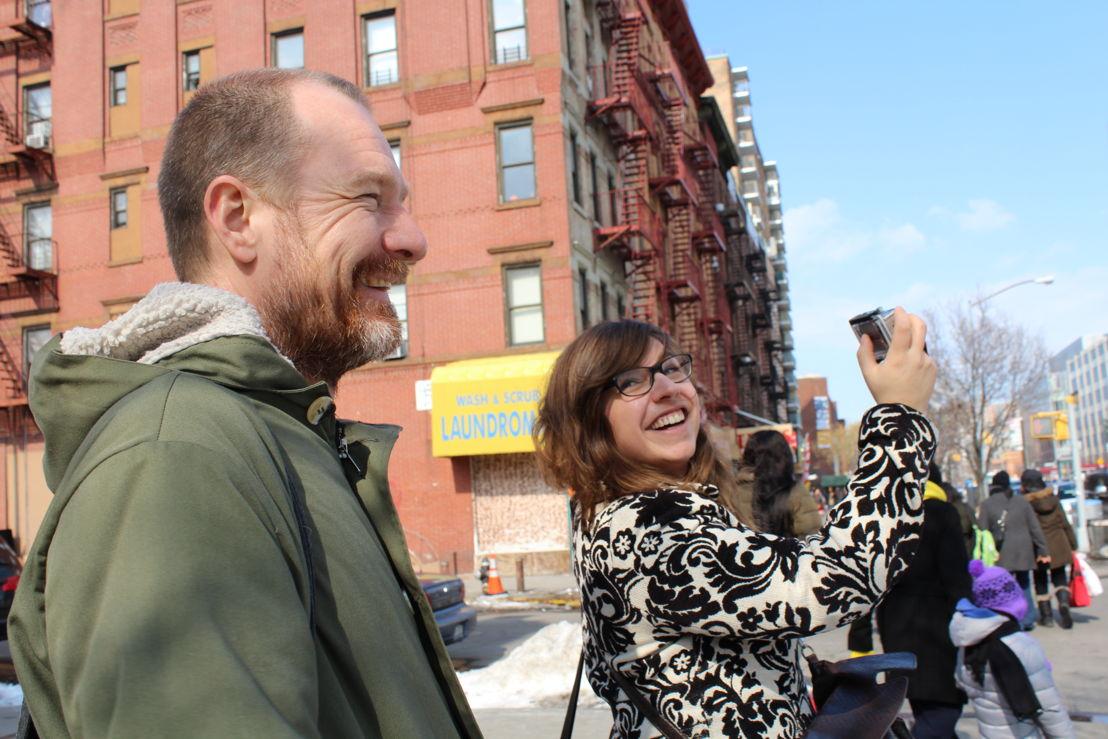 Kurt Overbergh en Annelies Moons in New York (c) Leen Van Severen