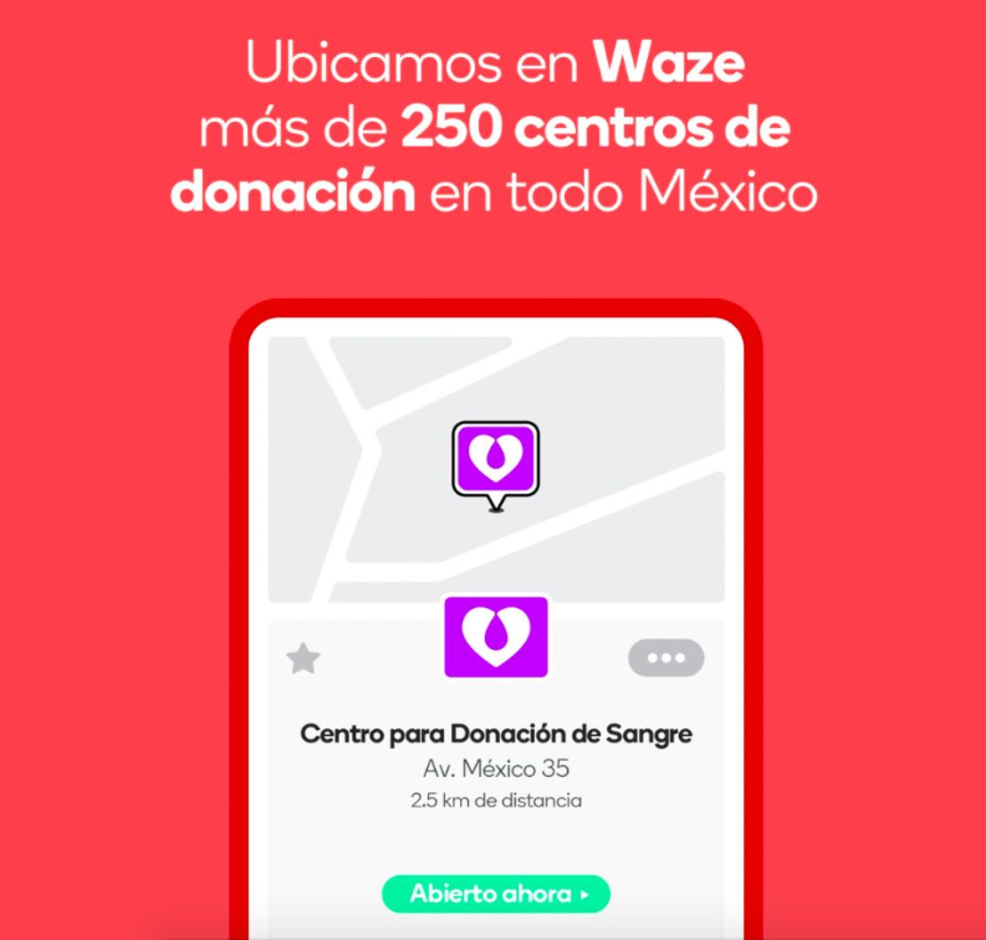 Waze se alía con el Centro Nacional de Transfusión Sanguínea (CNTS) para decirte dónde acudir a donar sangre