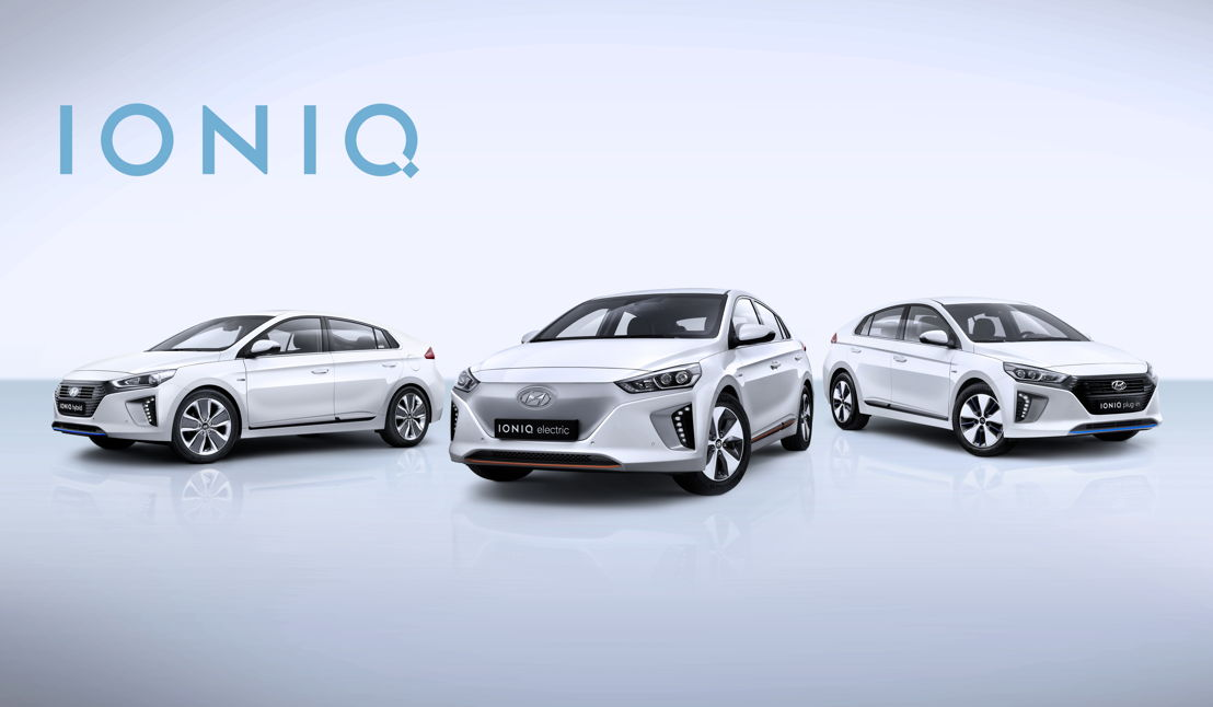 IONIQ<br/>left to right Hybrid - Electric - Plug-In