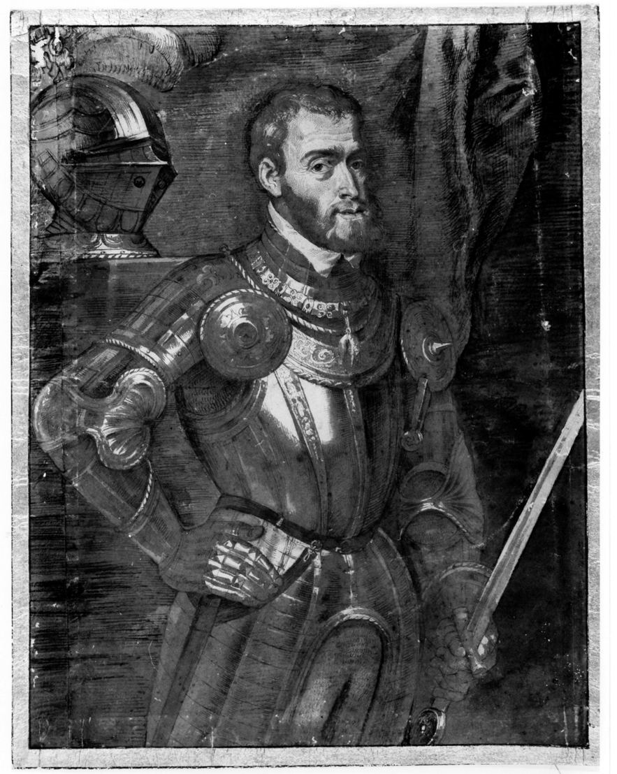 Atelier Rubens (toegeschreven aan Lucas Vorsterman), Portret van Keizer Karel, <br/>tekening, bewaarplaats onbekend