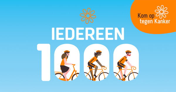 Preview: Kom op tegen Kanker roept met Iedereen 1000 heel Vlaanderen op om te trappen tegen kanker