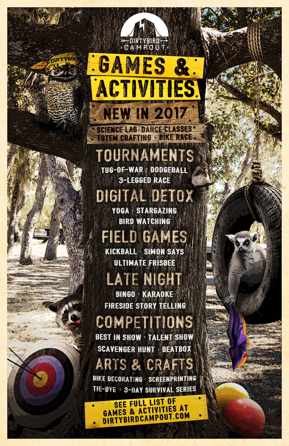 DIRTYBIRD Campout Reveals More Than 60 Games & Activities for 2017 Edition
