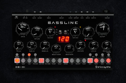 Erica Synths Opens Orders for Bassline DB-01 Synthesizer