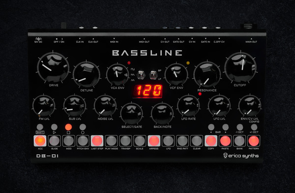 Preview: Erica Synths Opens Orders for Bassline DB-01 Synthesizer
