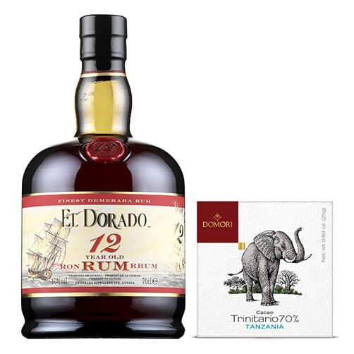 Cioccolato fondente cacao Trinitario Tanzania & Rum 12 years old - El Dorado
