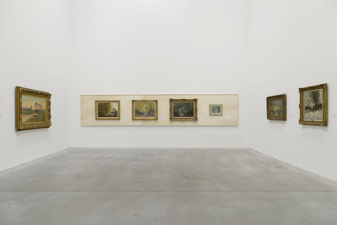 Vue de l'exposition PLEIN avec les oeuvres de Lucien Frank et Guillaume Vogels (c) Isabelle Arthuis