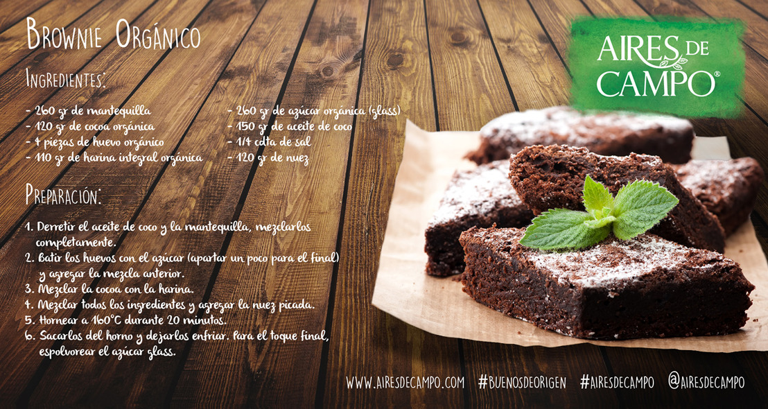 Prepara con Aires de Campo unos deliciosos brownies para este regreso a clases
