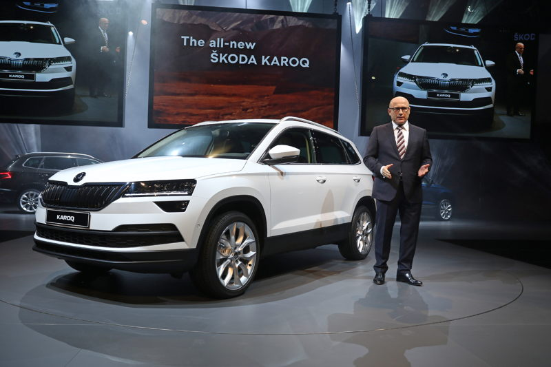 On 18 May 2017, ŠKODA CEO Bernhard Maier presented the new ŠKODA KAROQ compact SUV.