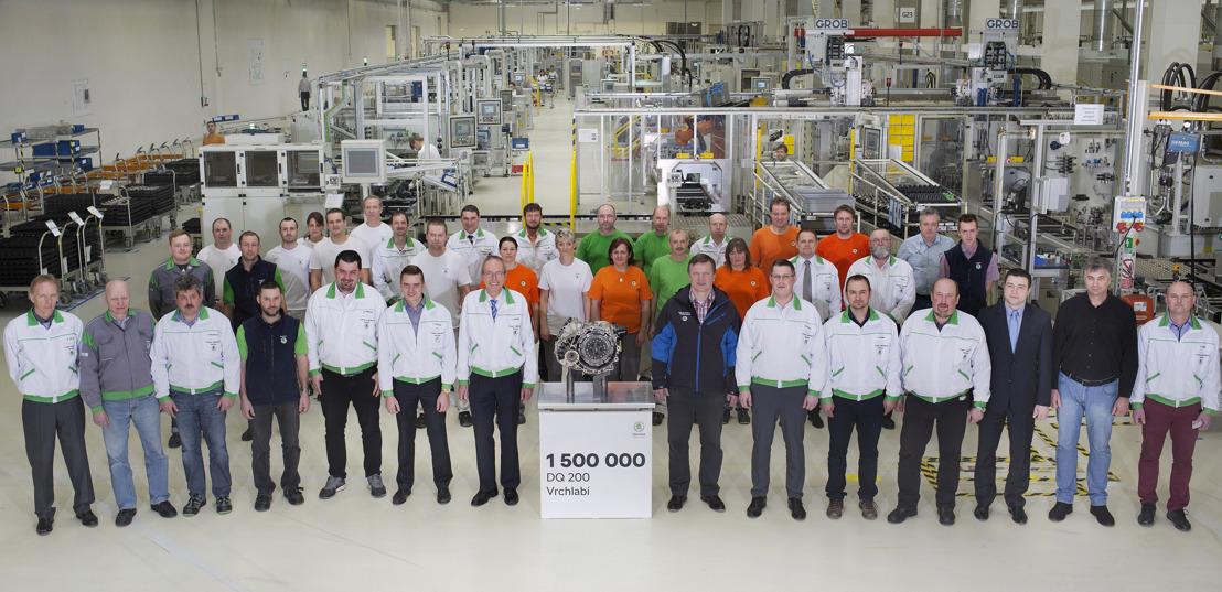 ŠKODA produces 1.5 millionth DQ 200 dual-clutch transmission at Vrchlabí plant