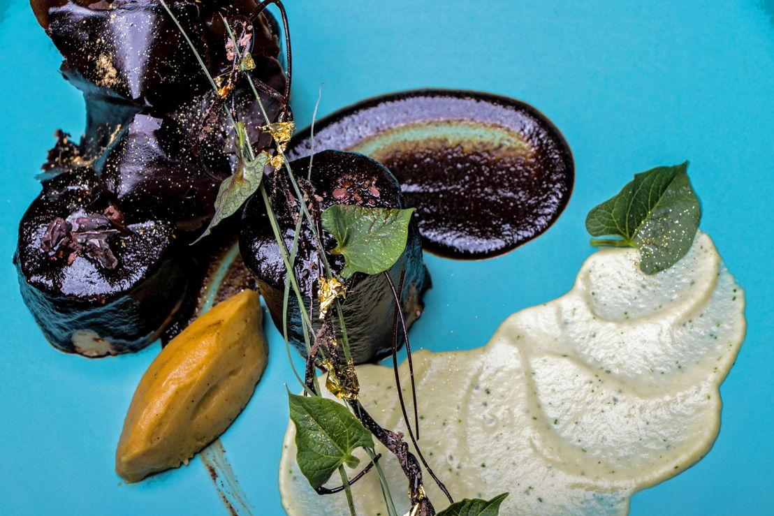 Maridaje de Tequila Casa Dragones Joven con mole de la chef Martha Ortiz