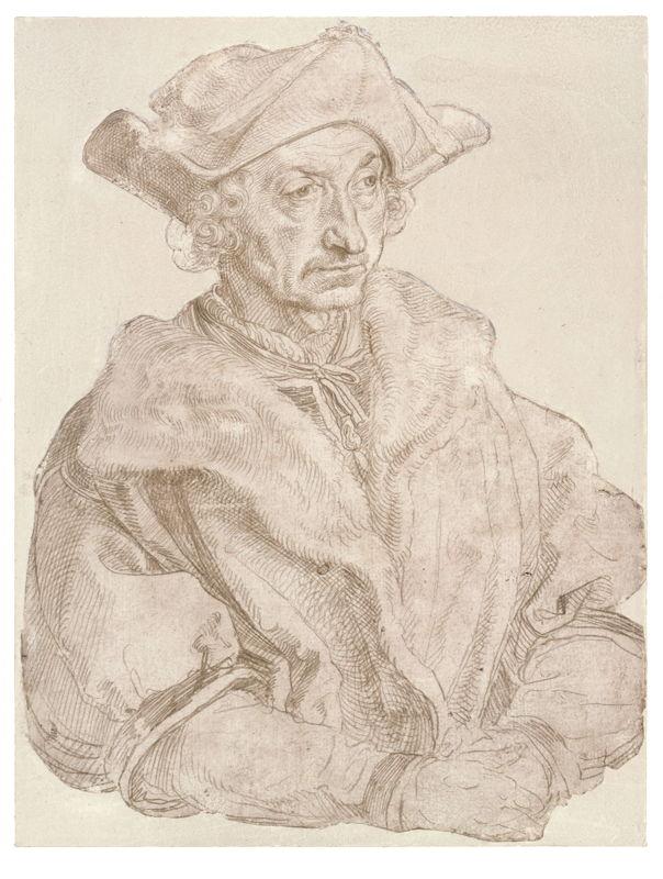 Op zoek naar Utopia © Albrecht Dürer, Portret van een humanist (Sebastian Brant?), 1520/1521 (?). Berlijn, Staatliche Museen zu Berlin, Kupferstichkabinett.