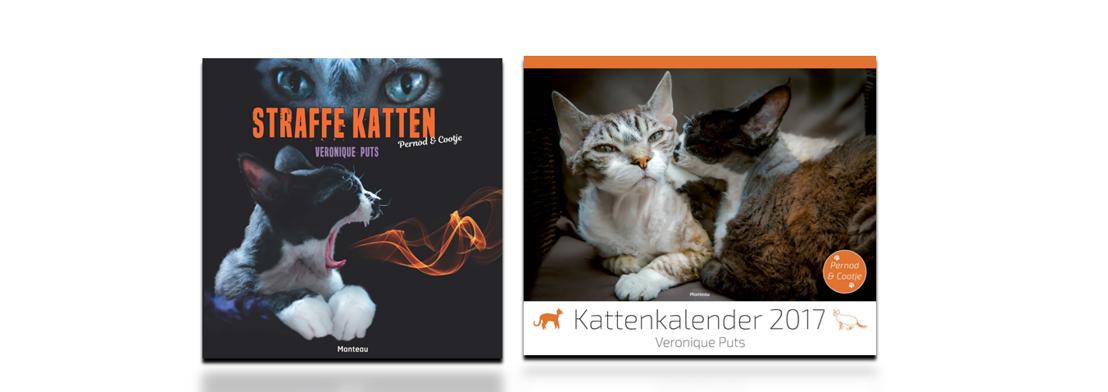 'Straffe katten' en 'Kattenkalender 2017': twee gloednieuwe uitgaven met Vlaanderens populairste katten in de hoofdrol