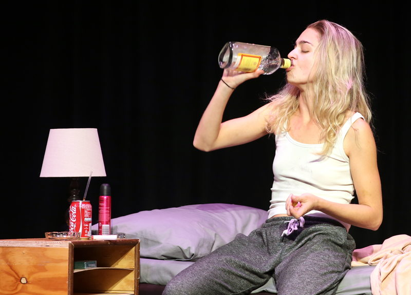 Kai-Ella Lowe in Monster at the Cape Town Fringe 2016 - pic Nardus Engelbrecht