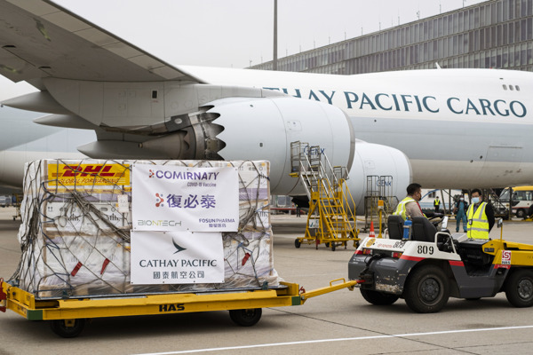 Preview: Cathay Pacific delivers first Fosun Pharma/BioNTech vaccines to Hong Kong and beyond