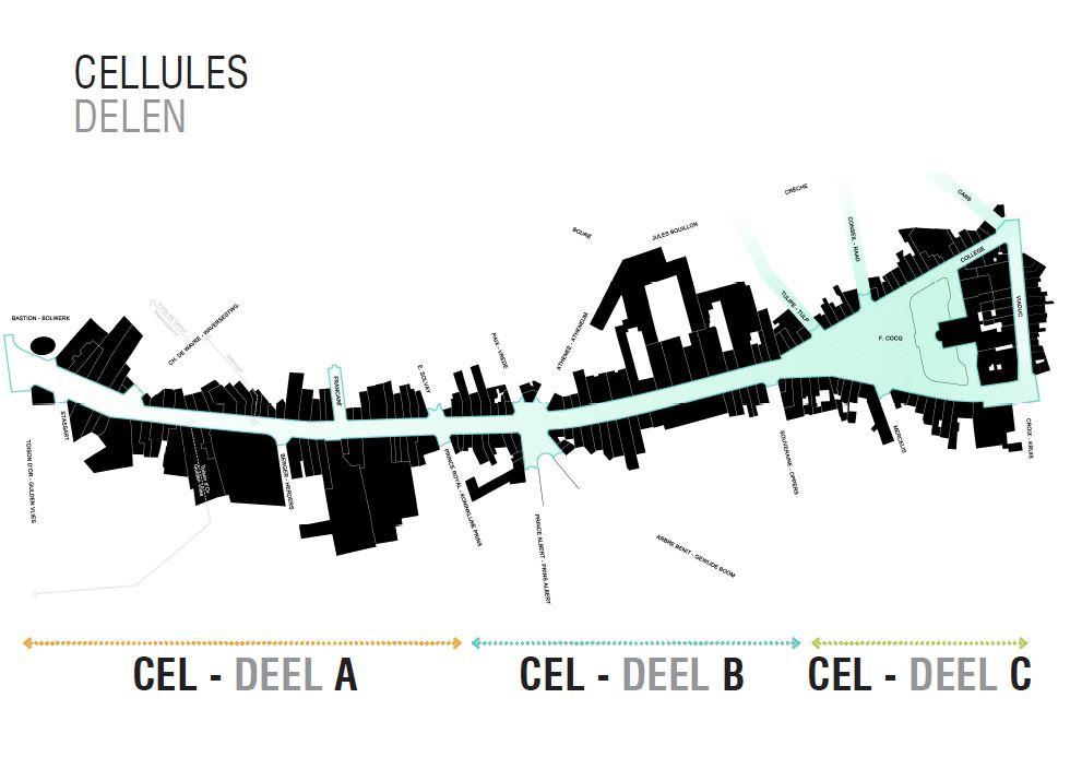 Zones chaussée d'Ixelles