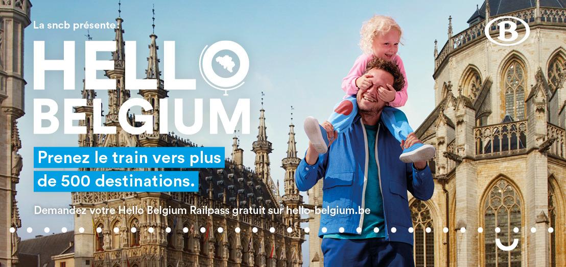 Lancement du « Hello Belgium Railpass », une carte de 12 trajets gratuits