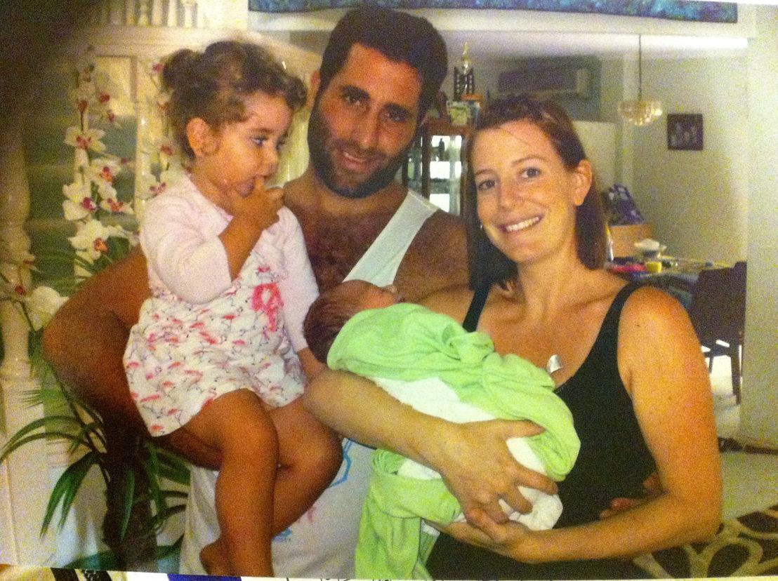 Ali Elamine, Sally Faulkner & children