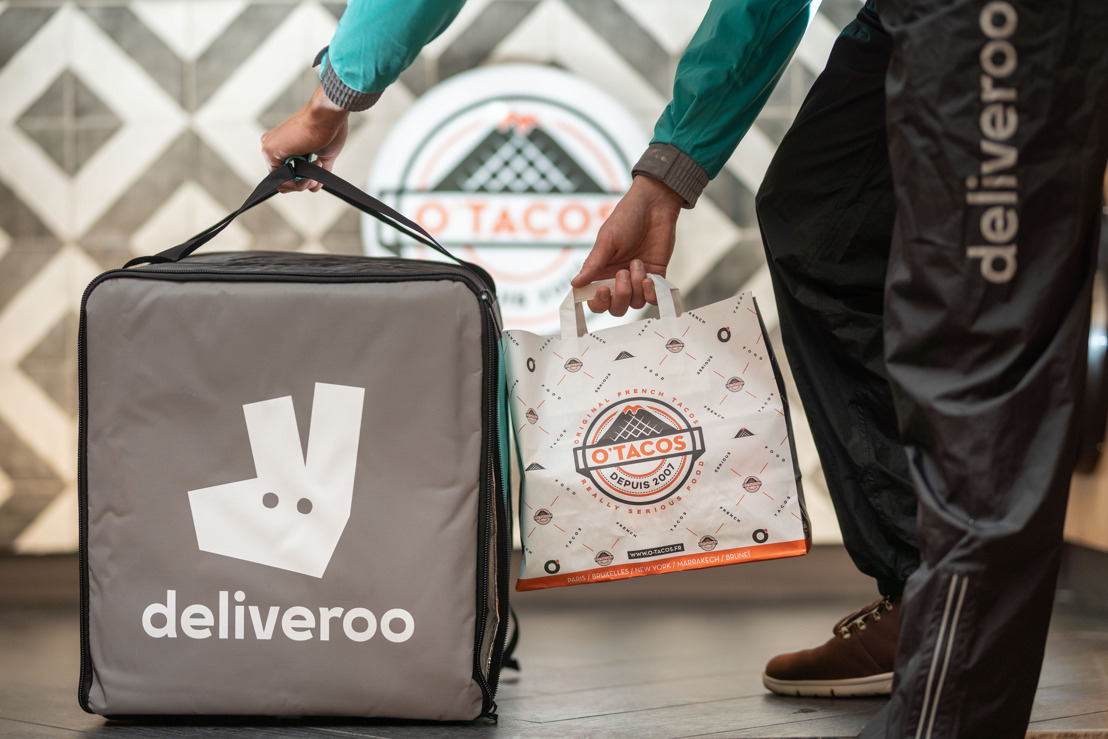Meer dan 50.000 combinaties van Franse Taco's nu bij u thuis geleverd dankzij de nieuwe samenwerking tussen Deliveroo en O'Tacos.