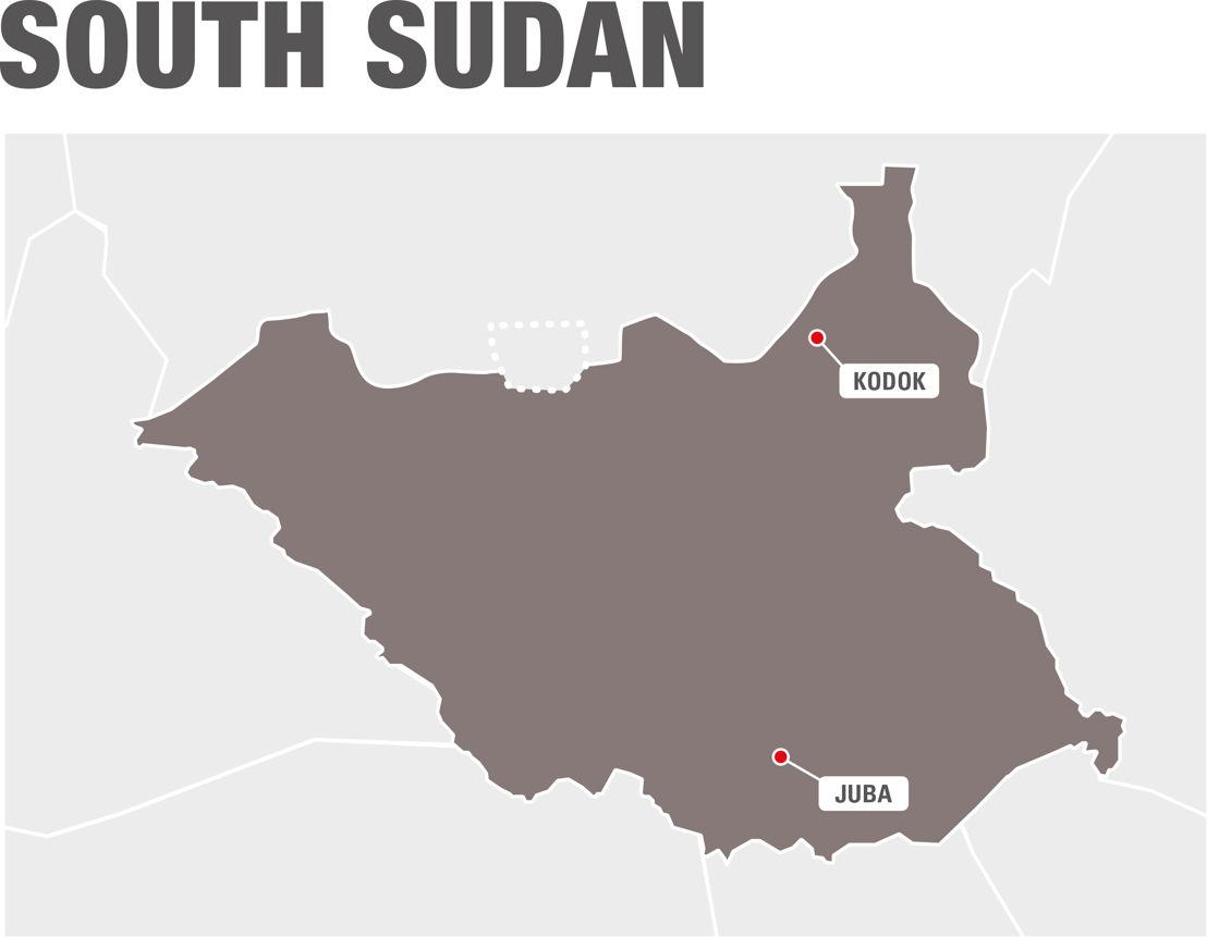 Map South Sudan