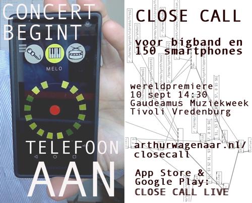 CLOSE CALL - Muziekvoorstelling voor bigband en 150 smartphones